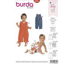 Střih Burda 9652 - Dětský overal