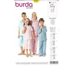 Střih Burda 9747 - Dětské pyžámko