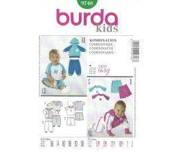 Střih Burda 9748 - Mikinka, tričko, tepláčky a šortky