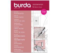 Hedvábný papír Burda, střihový papír