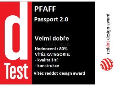 """Pfaff Passport 2.0 – šicí stroj v D-testu - nejlepší v kategorii """"kvalita šití"""""""