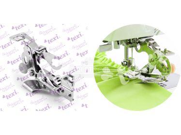 RUFFLER, návod na použití řasící patky pro šicí stroje