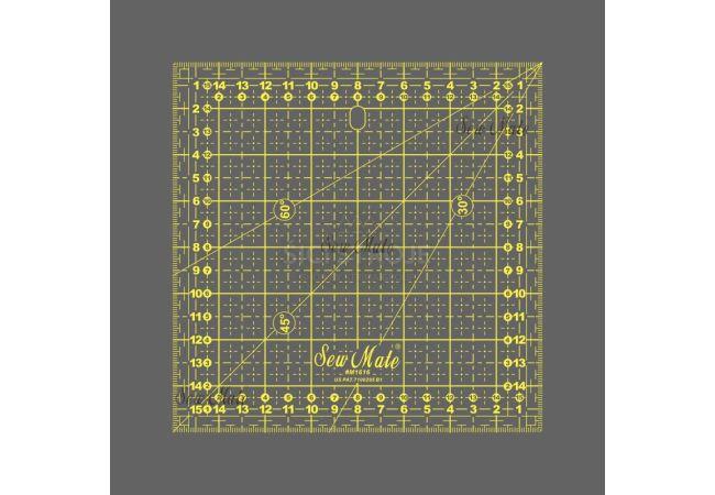 Rastrové pravítko 16x16cm M1616 YW