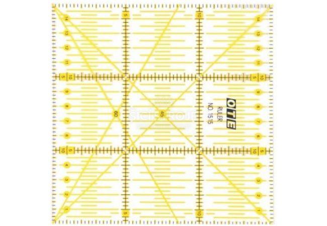 Rastrové pravítko OLFA OTE 15x15 cm