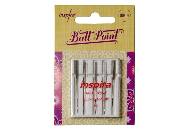Jehly Inspira Pfaff, Husqvarna 620106196 ball point - 90 - 5 ks