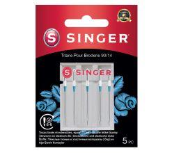 Jehly titanové na vyšívání Singer 5x90