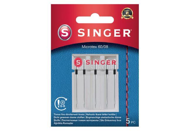 Jehly na mikrovlákno Singer 5x60