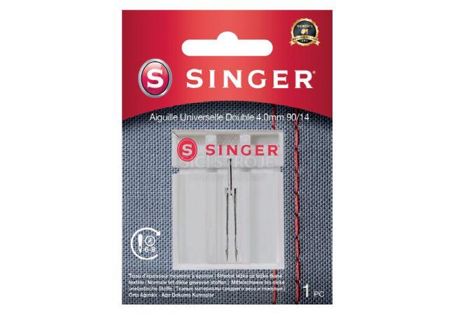Dvojjehla univerzální Singer 4 mm 1x90