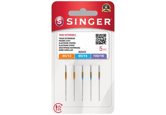 Jehly Singer 2045 - 80/12, 90/14, 100/16 - 5 ks - Stretch