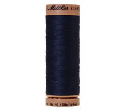 Silk-Finish Cotton 40 - Navy