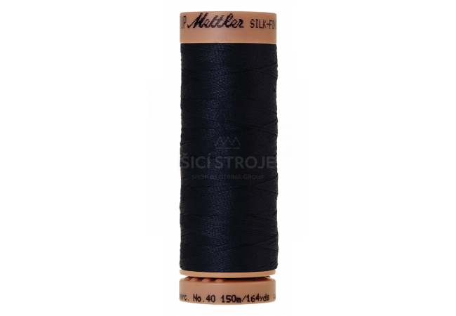 Silk-Finish Cotton 40 - Dark Blue