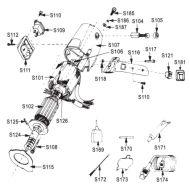 """Stator ventilátoru pro řezačku RSD 100-4"""", S115"""
