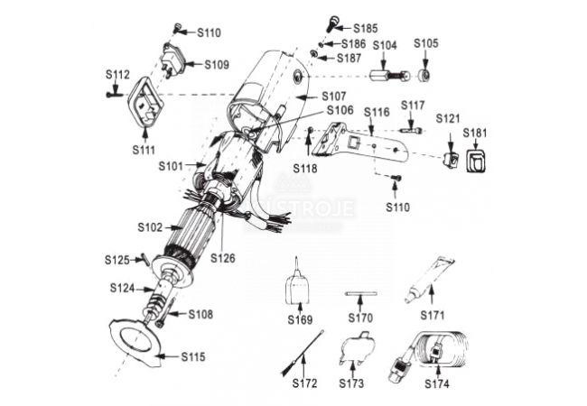 """Protinůž pro řezačku RSD 100-4"""", S175"""