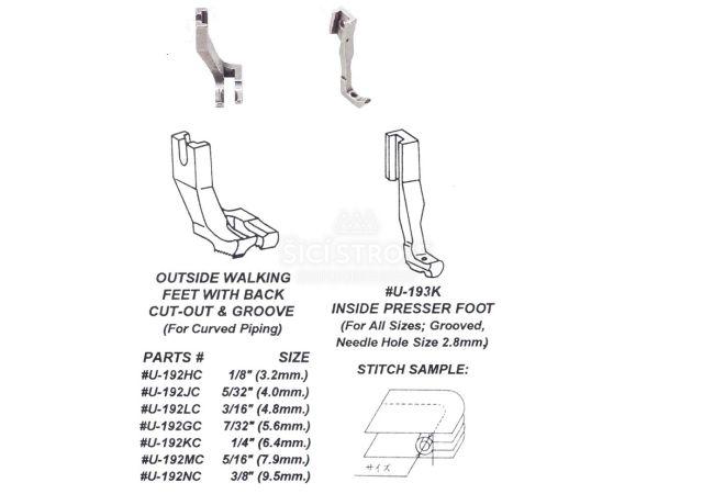 Patka kráčející kedrová pro šicí stroje SI-291 NC 3/8