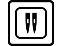 Tlačítko pro šití dvojjehlou