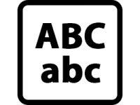 Funkce vyšívání písmen a čísel