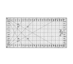 Rastrové pravítko pro patchwork 16x32cm, černé TEXI 4065