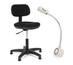 Sada židle a LED lampy pro šicí stroje TEXI COMFY S