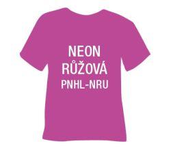 Neonová matná hladká nažehlovací fólie POLI-TAPE Craft - růžová