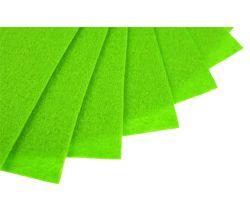 Filc na vyšívání, látková plsť, arch 20 x 30 cm, 1 ks - P021 jasně zelená