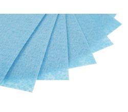 Filc na vyšívání, látková plsť, arch 20 x 30 cm, 1 ks - P039 modrá