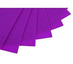 Filc na vyšívání, látková plsť, arch 20 x 30 cm, 1 ks - P045 fialová