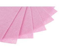 Filc na vyšívání, látková plsť, arch 20 x 30 cm, 1 ks - P071 jasně růžová
