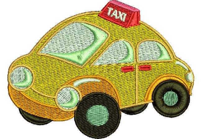 Výšivka auto 1