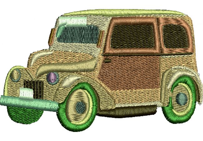 Výšivka auto 22