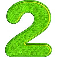 Výšivka číslice 2 - varianta 1