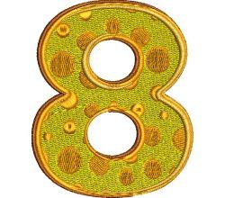 Výšivka číslice 8 - varianta 1