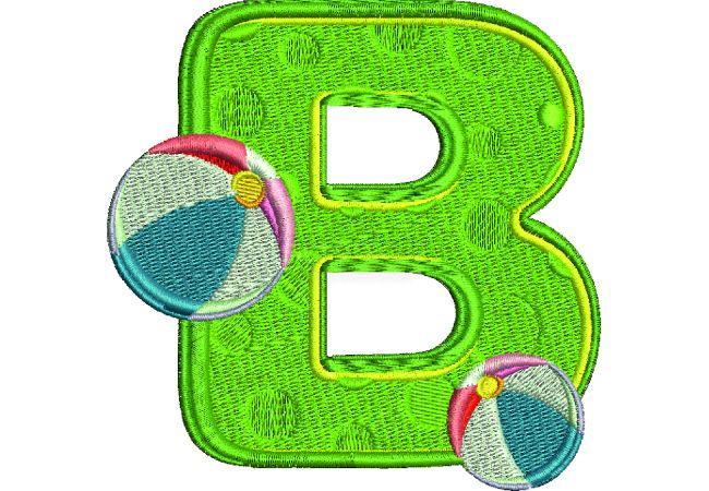 Výšivka písmeno B - varianta 1