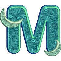 Výšivka písmeno M - varianta 1
