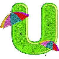 Výšivka písmeno U - varianta 1
