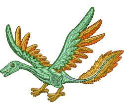 Výšivka dinosaurus 9
