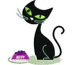 Výšivka kočka 3