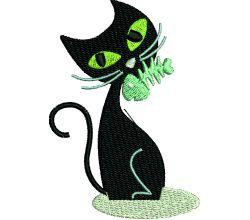 Výšivka kočka 4
