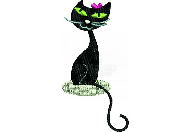 Výšivka kočka 5