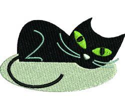 Výšivka kočka 6