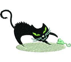 Výšivka kočka 7
