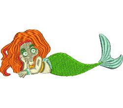 Výšivka mořská panna 1