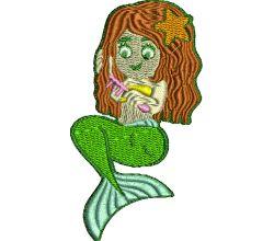 Výšivka mořská panna 2