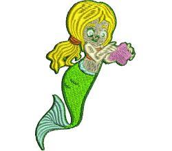 Výšivka mořská panna 3