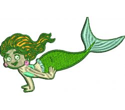 Výšivka mořská panna 4