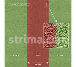 Silikonová pěnovka pro žehlení ELASTIC ULTRA/SOFT 10MM GREEN/BROWN