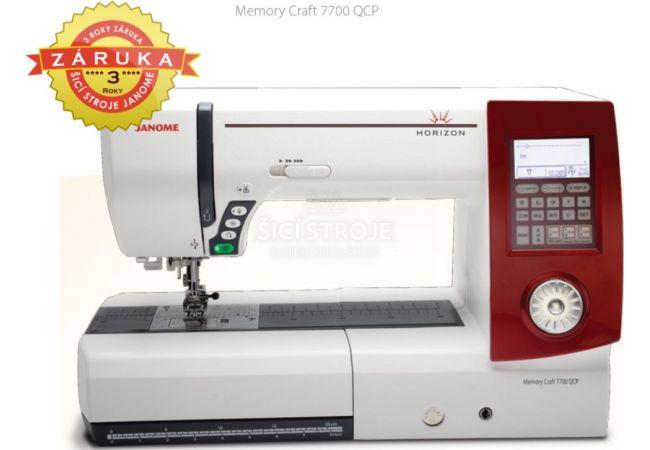 JANOME MEMORY CRAFT 7700QCP HORIZON náhradní díly a servis