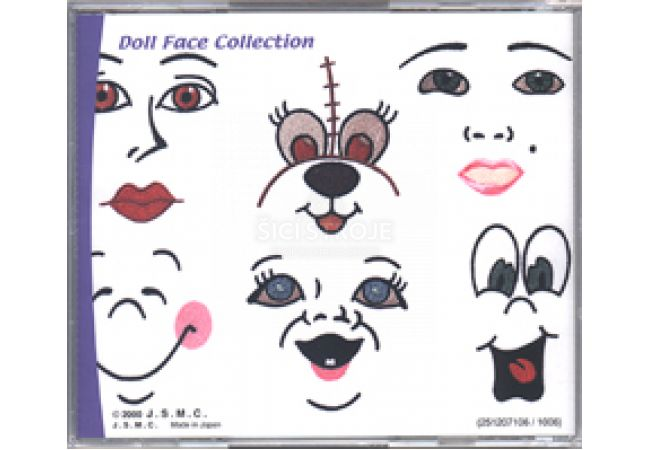 Sada výšivek Janome Doll Face Collection