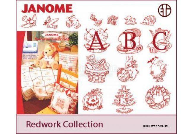 Sada výšivek Janome Redwork Collection