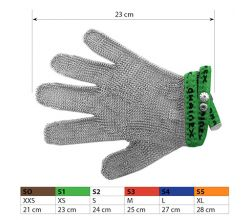 Ochranné kovové rukavice S1 Green