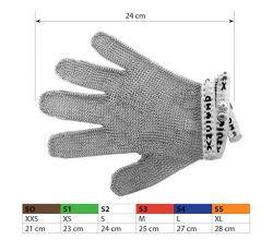 Ochranné kovové rukavice S2 White